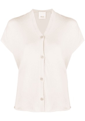 Allude button-down knitted vest - Neutrals