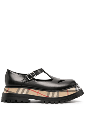 Burberry tartan-detail chunky loafers - Black