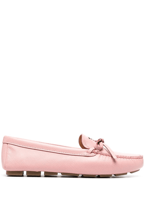 Prada bow detail loafers - PINK