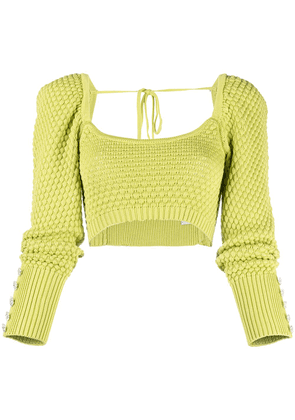 Giuseppe Di Morabito button-embellished knitted top - Green
