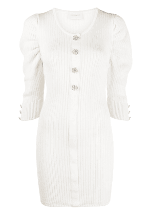 Giuseppe Di Morabito crystal-embellished knitted top - Neutrals