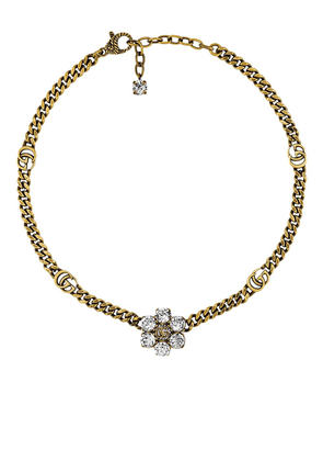 Gucci Double G crystal necklace - Gold