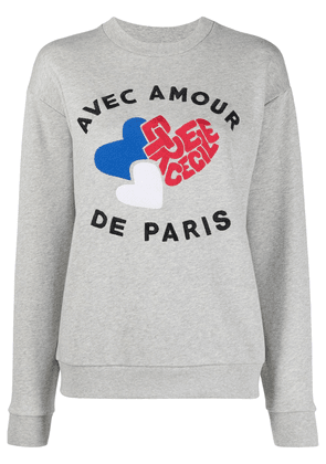 Être Cécile embroidered logo sweatshirt - Grey