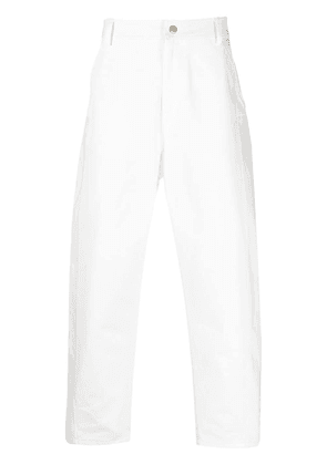Valentino baggy fit tapered trousers - White