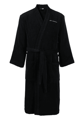 Karl Lagerfeld logo bath robe - Black