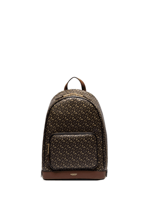 Burberry TB-monogram faux-leather backpack - Brown