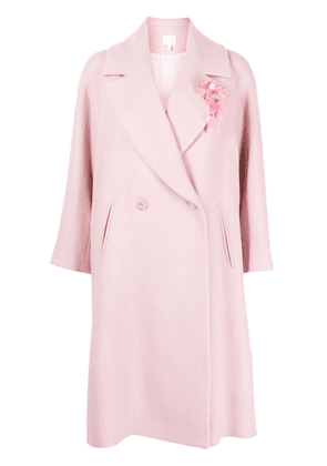 Delpozo double-breasted long coat - PINK