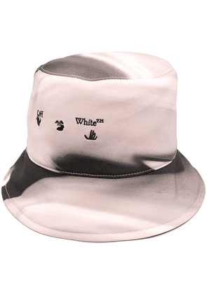 Off-White logo-embroidered bucket hat - PINK