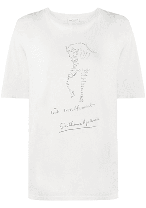Saint Laurent horse graphic print T-shirt - Neutrals