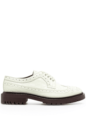 Burberry perforated leather oxford shoes - Green