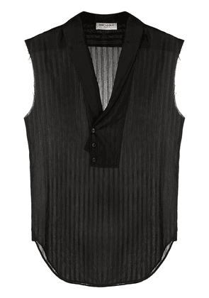 Saint Laurent V-neck sleeveless shirt - Black