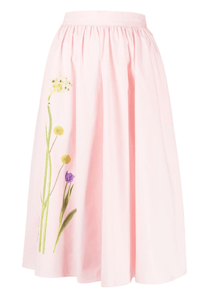 Boutique Moschino floral print A-line skirt - PINK