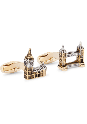 PAUL SMITH - London Silver and Gold-Tone Cufflinks - Men - Gold