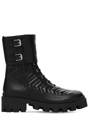 35mm Frances Quilted Leather Combat Boot