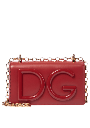 DG Logo Small leather crossbody bag