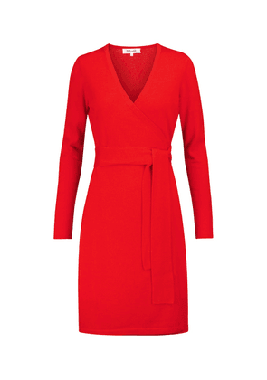Linda wool and cashmere wrap dress