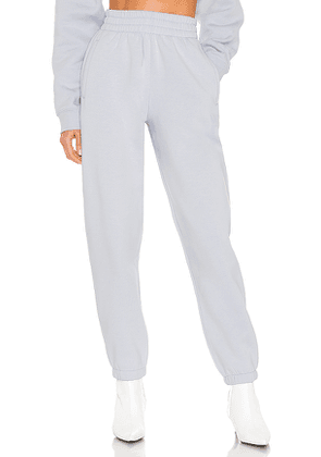 T by Alexander Wang Foundation Terry Classic Sweatpant in Baby Blue. Size M, S.