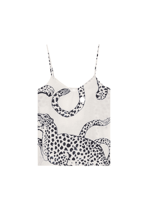 Desmond & Dempsey The Jag Printed Cotton Camisole Top