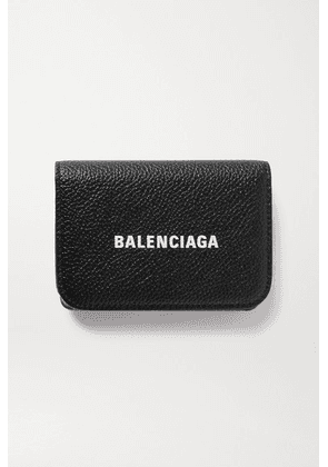 Balenciaga - Mini Printed Textured-leather Wallet - Black