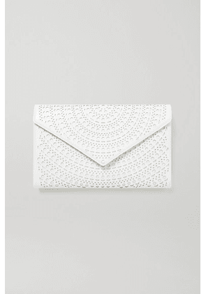Alaïa - Laser-cut Leather Clutch - White