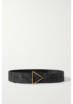 Bottega Veneta - Intrecciato Leather Waist Belt - Black