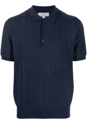 Canali embroidered polo shirt - Blue