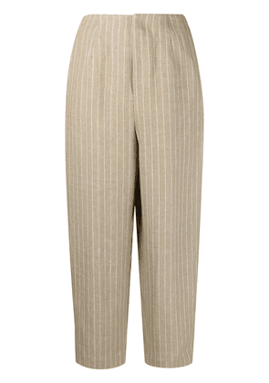 Enföld pinstripe cropped trousers - Neutrals