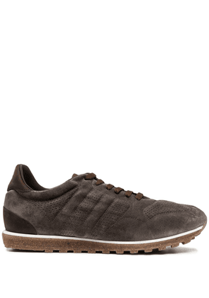 Alberto Fasciani lace-up suede trainers - Brown