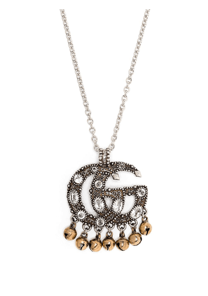 Gucci crystal-embellished interlocking G necklace - SILVER
