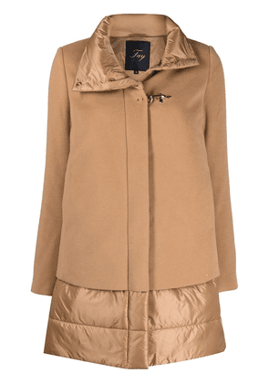 Fay layered quilted coat - Neutrals