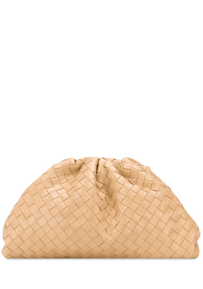 The Pouch Intrecciato Leather Clutch