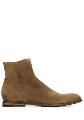 25mm Zip-up Suede Ankle Boots