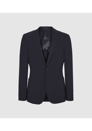 Reiss Flexo - Slim Fit Jersey-stretch Blazer in Navy, Mens, Size 40