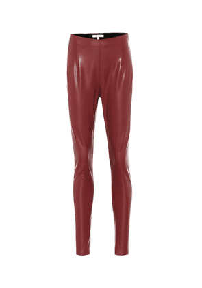 Second Skin faux-leather pants