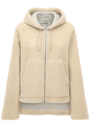 Hooded Shearling Jacket