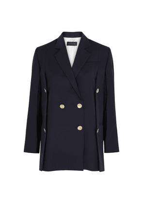 Eudon Choi Beatrice Navy Double-breasted Wool Blazer