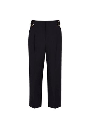 Eudon Choi Taryn Navy Cropped Wool Trousers