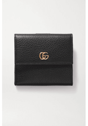 Gucci - + Net Sustain Marmont Petite Textured-leather Wallet - Black