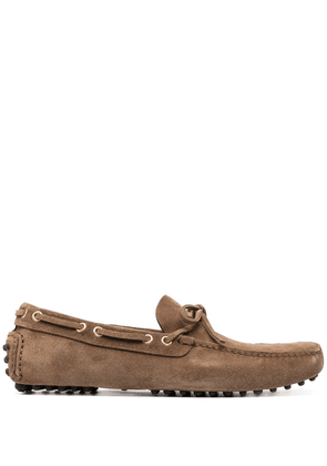 Car Shoe ridged suede loafers - Brown