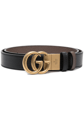 Gucci Double G leather belt - Black