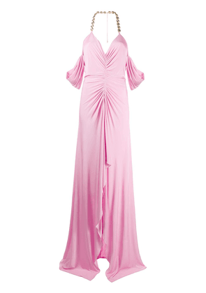 Blumarine crystal accent evening gown - PINK