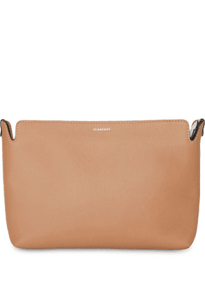Burberry Medium Two-tone Leather Clutch - Brown