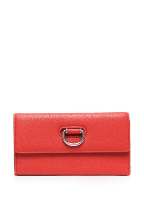 Burberry foldover leather purse - Red