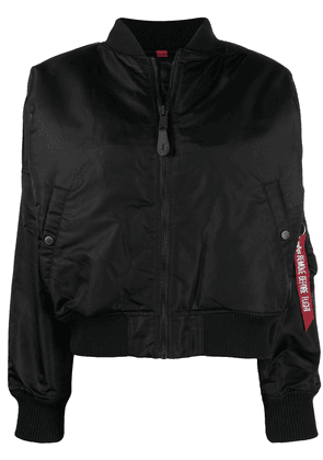 Alpha Industries nylon bomber jacket - Black