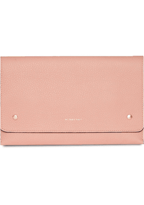 Burberry Two-tone Leather Wristlet Clutch - Pink