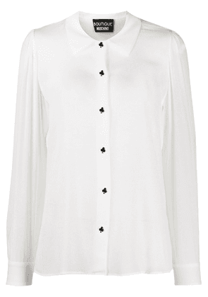 Boutique Moschino embellished buttons shirt - White