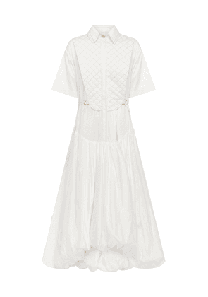 Aje Motocyclette Quilted Cotton Bubble Dress