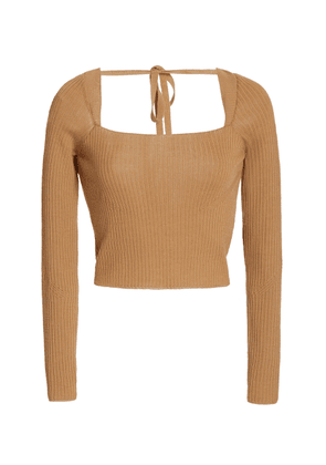 Anna October Cropped Wool-Blend Sweater
