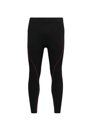 FALKE Ergonomic Sport System - Maximum Warm Stretch-Jersey Thermal Ski Tights - Men - Black