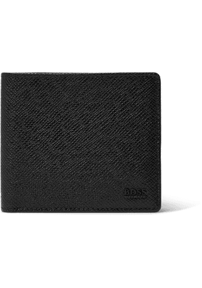 HUGO BOSS - Pebble-Grain Leather Billfold Wallet - Men - Black